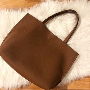 Street Level Vegan Leather reversible tote